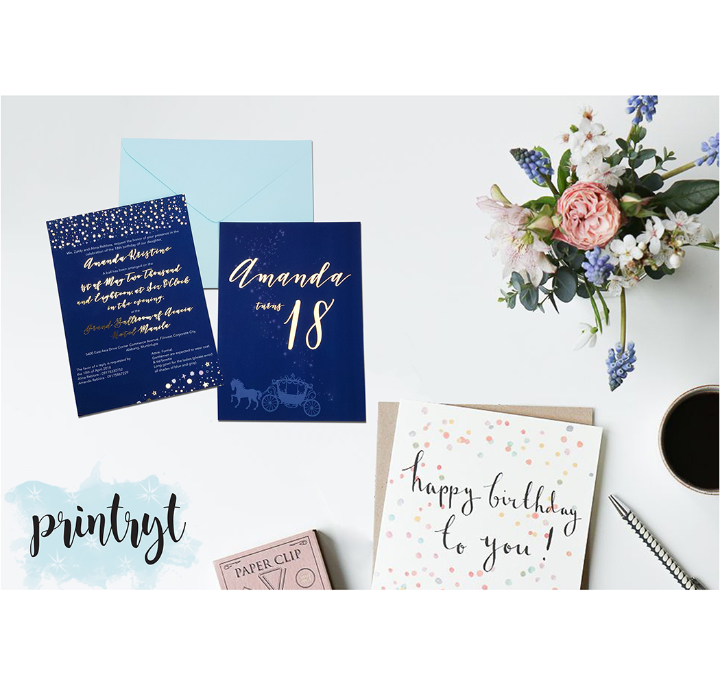 AMANDA\'S CINDERELLA THEMED DEBUT INVITATION - Printryt Incorporated